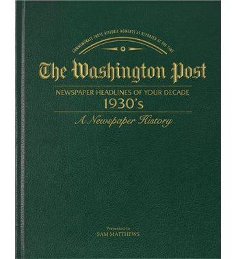 Washington Post 30s Decade Book