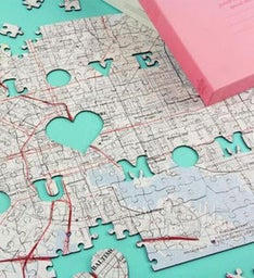 Personalized I Love You Mom Map Puzzle