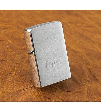 Custom Engraved Chrome Zippo Lighter