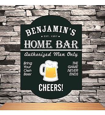Personalized Classic Tavern Bar Signs