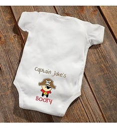 Personalized Pirate Baby Boy Booty Bodysuit