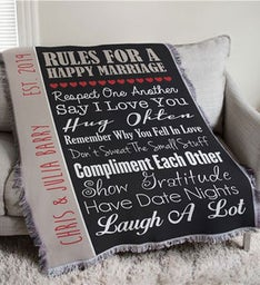 Personalized Wedding Throw Blanket
