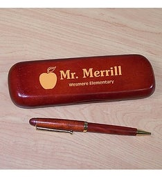 Engraved Teacher Rosewood Pen Set