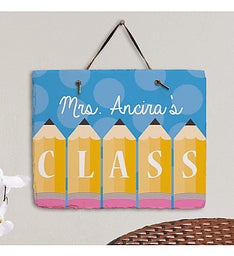 Personalized Teachers Class Hanging Plaque