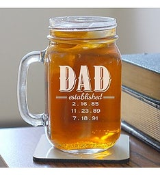 Established Dad Mason Jar