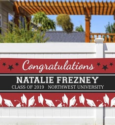 Personalized Congratulations Star Banner