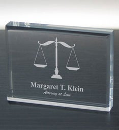 Lawyer Personalized Keepsake Paperweight