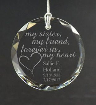 Personalized My Sister My Friend Ornament