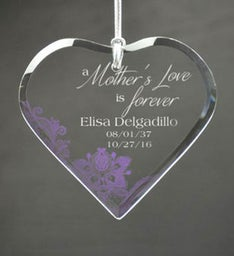 Personalized Mothers Love is Forever Ornament