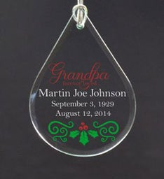 Personalized Grandparent In Heaven Ornament
