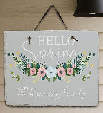 Personalized Hello Spring Wall Hanging