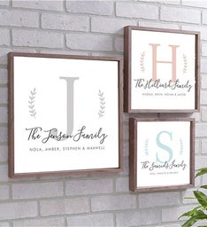 Personalized Family Name Framed Wall Sign