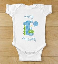 Baby Boys 1st Birthday Personalized Onesie