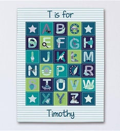 Personalized Alphabet Wall Canvas