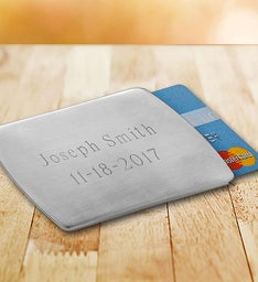 Personalized Stainless Steel Card Holder