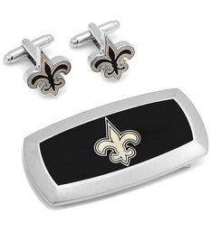 New Orleans Saints Cufflinks and Money Clip