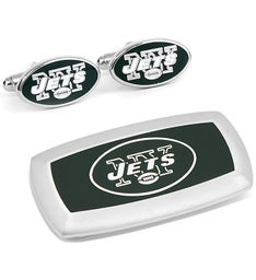 New York Jets Cufflinks and Cushion Money Clip