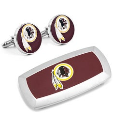 Washington Redskins Cufflinks and Money Clip