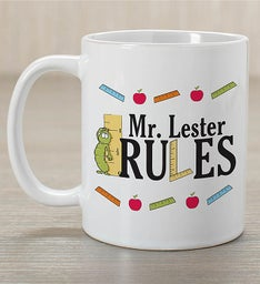 Personalized My Teacher Rules Mug