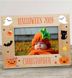 Personalized Halloween Wooden Picture Frame