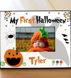 Personalized My First Halloween Printed Frame