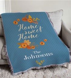 Personalized Home Sweet Home Afghan Throw