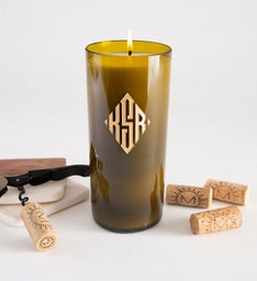 Diamond Monogram Personalized Candle