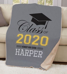 Personalized Class Of Graduation Sherpa Throw