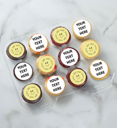 12-24 Mini Personalized Text Get Well Cupcakes