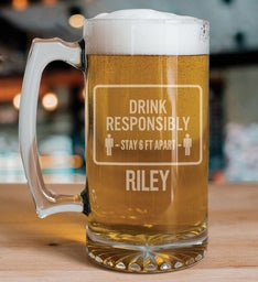 Personalized Drink Responsibly 6 Feet Apart Mug