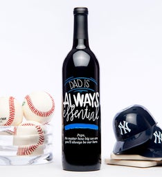 Personalized Dad Is Always Essential Wine Bottle