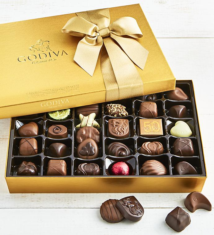 Godiva Gold Ballotin Chocolates Box - 36 piece