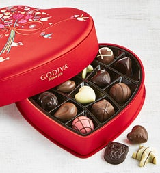 Godiva Fabric Heart Box 14pc