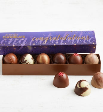 Simply Chocolate Congrats Colossal Truffles 6pc