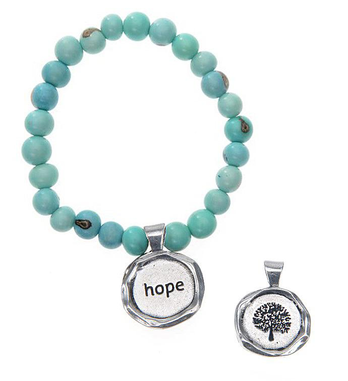 Seeds Of Life Wax Seal Bracelet - Hope