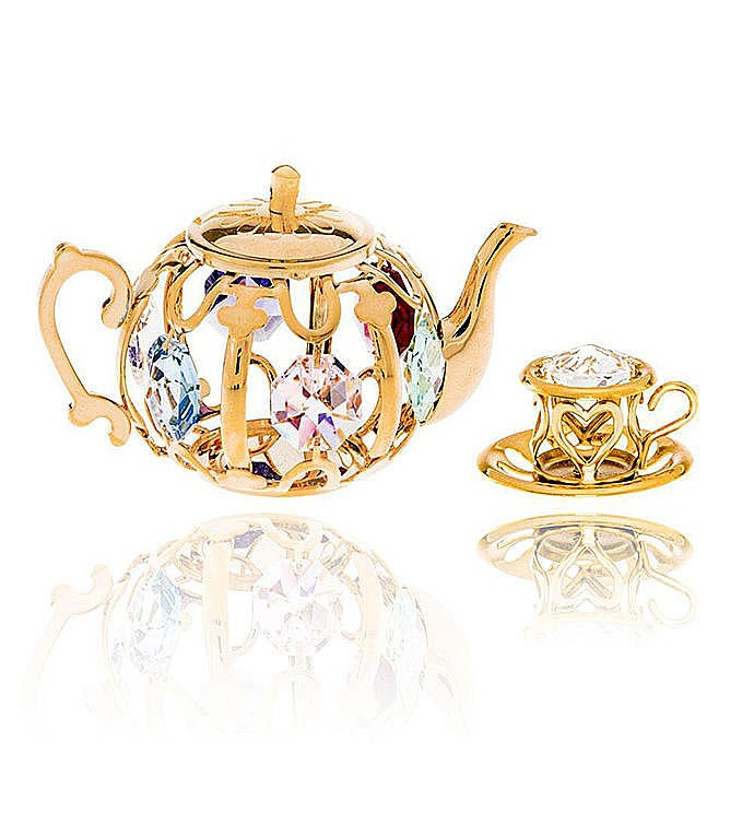Gold Plated Tea Set Ornaments