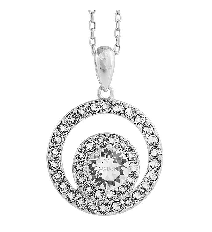 Concentric Double Circle Design Necklace