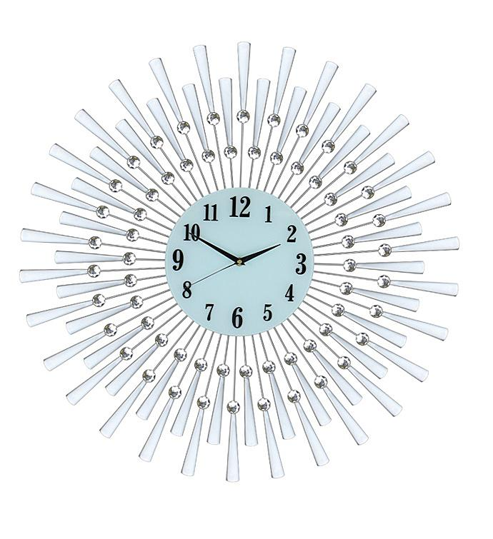 Silver Spoked Wall Clock