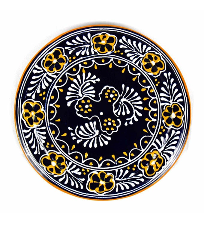 Global Crafts Encantada Handmade Pottery 8 Trivet or Wall Hanging Blue