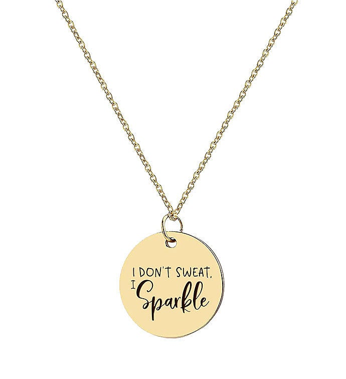 I Don39t Sweat I Sparkle Necklace