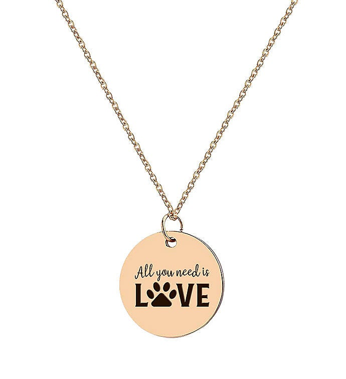 All You Need Is Love Charm Necklace