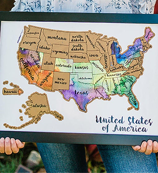Scratch Your Travels USA Map