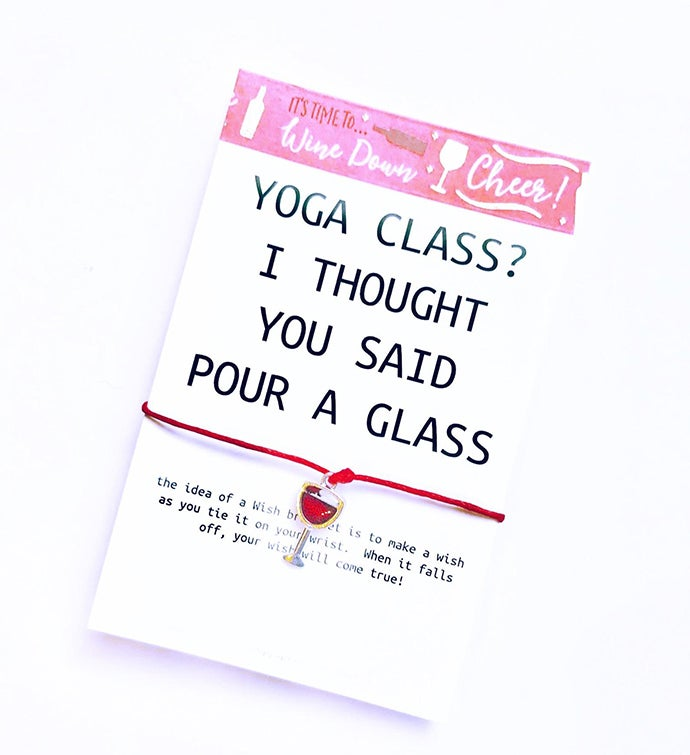 Wine Yoga Wish Bracelet