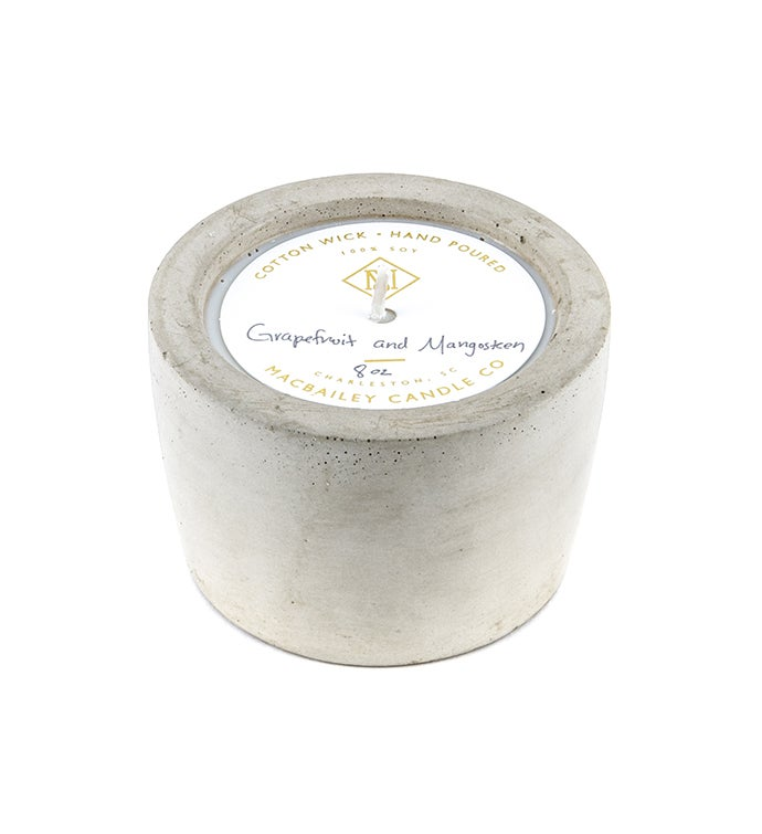 8 Oz Concrete Candle