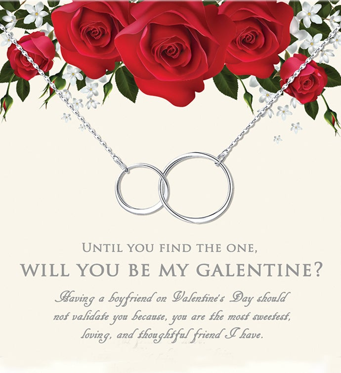 Will You Be My Galentine Infinity Ring Valentine39s Day Necklace