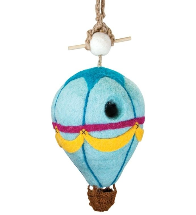 Handmade Wild Woolies Felt Hot Air Balloon Birdhouse