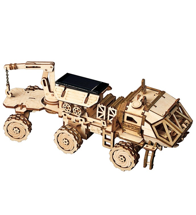 DIY 3D Wood Puzzle Rover Toy