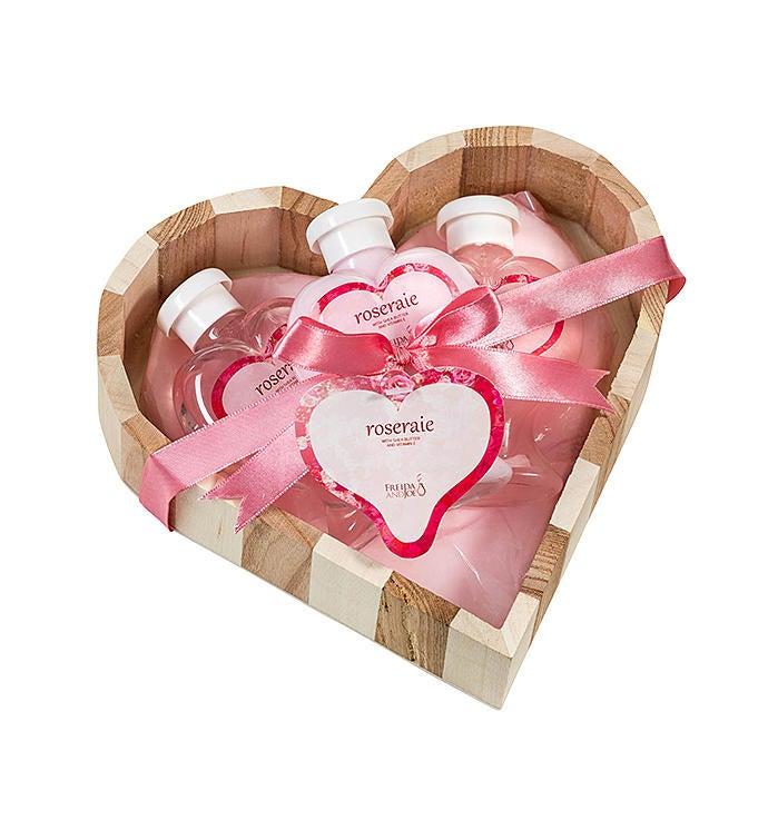 Pink Rose Fragrance Beauty Basket