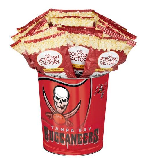 Tampa Bay Buccaneers 3-Flavor Popcorn Tins