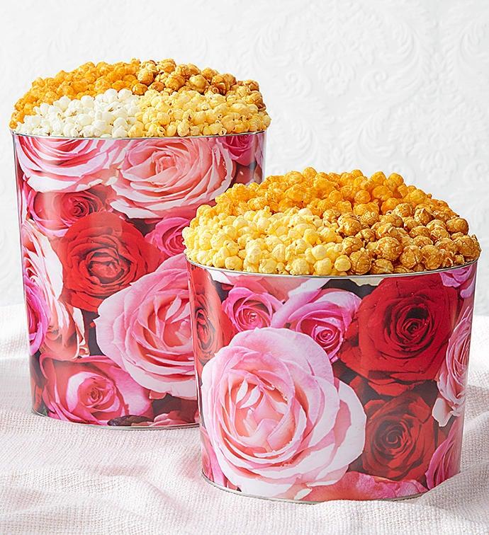 Forever Roses Popcorn Tins